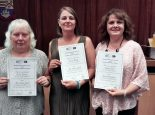 Volunteers with Gosport Age Concern receiving their awards
